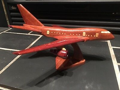 Boeing 757 Model Wooden Handcrafted Airplane Finished With Stand
