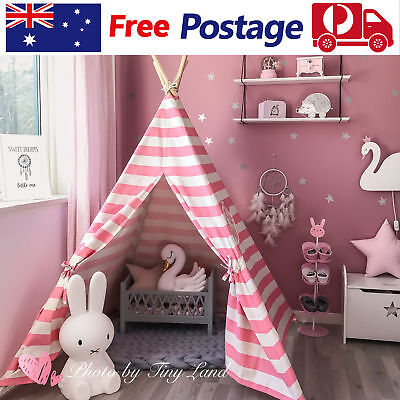 Giant Princess Girls Teepee Tent Cotton Canvas Kids Play House Indoor Outdoor