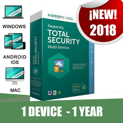 Kaspersky Total Security 2018 1 Pc devices 1 year Original