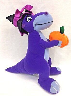"The Land Before Time Chomper Halloween Purple Dinosaur 13"" Plush Toy Network"