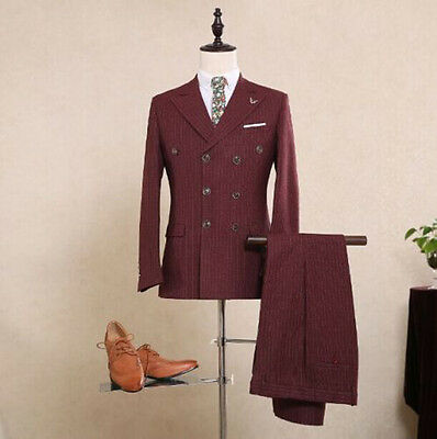 Fashion Wedding Suit Three-Pieces Tuxedos Groom Suits (Jacket+Vest+Pants) Custom