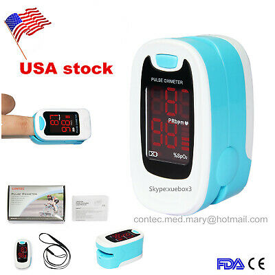 LED Finger Tip Pulse Oximeter SPO2 PR Blood Oxygen Monitor+ Pouch Care Healthy