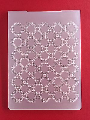 NEW• CHAIN STITCH DIAMONDS EMBOSSING FOLDER For Cuttlebug Or Sizzix