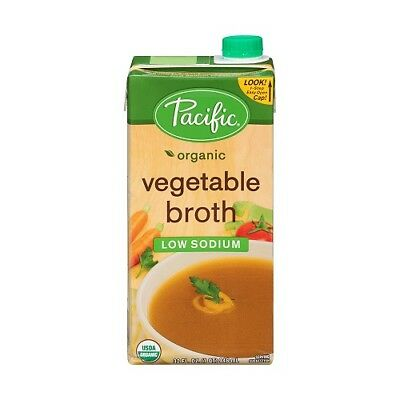 NEW  PACIFIC FOODS Organic Low Sodium Vegetable Broth 946ml