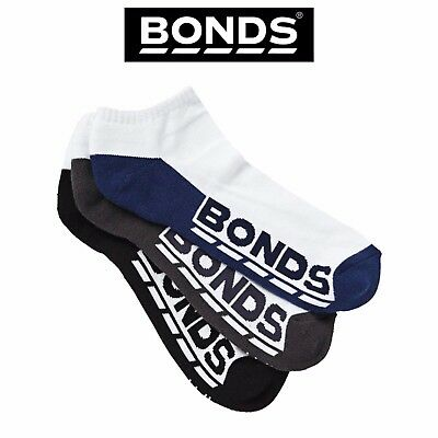Mens Bonds Low Cut Socks Sports Active Comfy Casual 3 Pack Gym Running S8220N