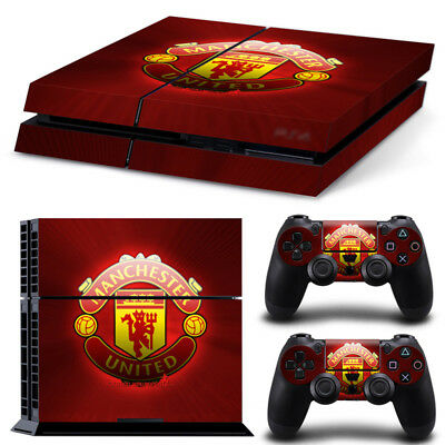 Manchester United FC PS4 Skin Sticker Cover For Playstation 4 Console&Controller