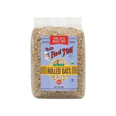 NEW  BOB'S RED MILL Organic Wheat Free Pure Rolled Oats 907g