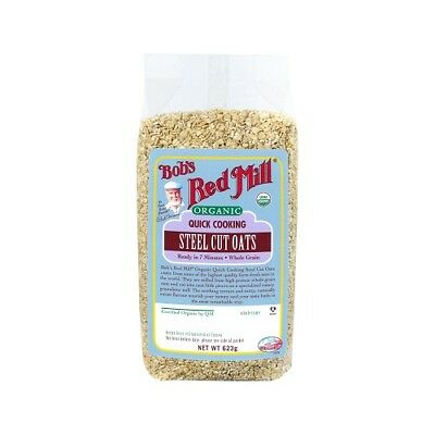 NEW  BOB'S RED MILL Organic Quick Cooking Steel Cut Oats 623g