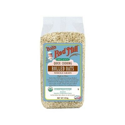 NEW  BOB'S RED MILL Organic Quick Cooking Rolled Oats 453g