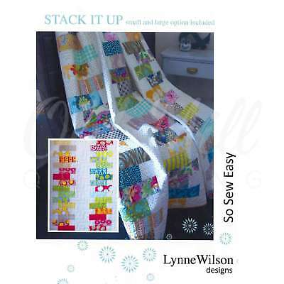 Stack It Up Quilt Pattern by Lynne Wilson Designs Quilting Sewing Patchwork