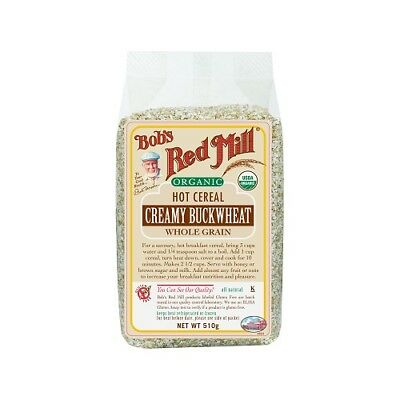 NEW  BOB'S RED MILL Organic Creamy Buckwheat Hot Cereal 510g