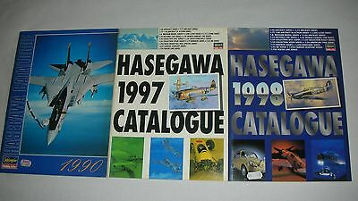 CATALOGUE HASEGAWA HOBBY KITS 1990+1997+1998. 60,81,81 PAGES.Very good condition