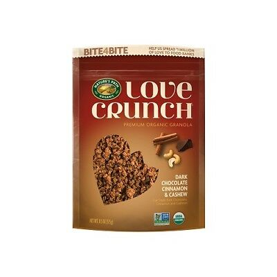 NEW  NATURE'S PATH Love Crunch Granola Dark Chocolate Cinnamon & Cashew 325g