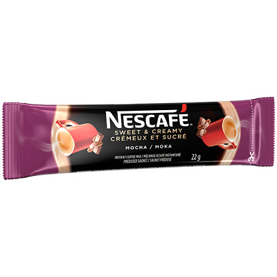 10x Individual 22g = 220g Packages of NESCAFE - MOCHA Sweet & Creamy From CANADA