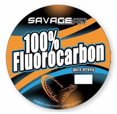 Savage Gear Ultra Strong 100% Fluorocarbon Fishing Line INVISIBLE INCREDIBLE