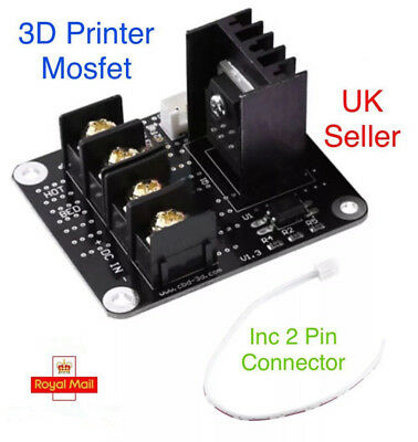3D Printer Hotbed Mosfet Expansion Module Inc 2 Pin Connector Anet A2 A6 A8 UK