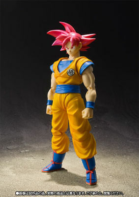 Dragon Ball Super S.h Figuarts Goku Gokou God Figure New Bandai