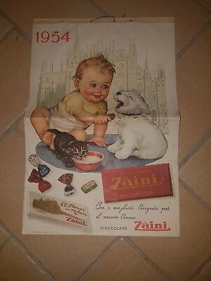 calendario 1954 - ZAINI -CIOCCOLATO AL LATTE