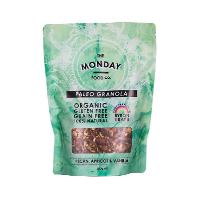 NEW  MONDAY FOOD CO Pecan & Vanilla Inca Berries Granola 300g