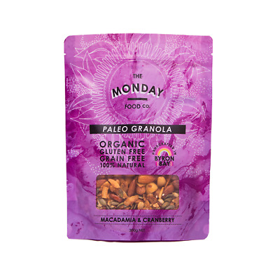 NEW  MONDAY FOOD CO Macadamia & Cranberry Granola 300g