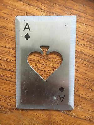 Metal Throwing Playing Card And Bottle Opener