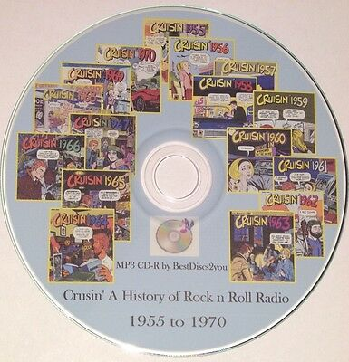 Cruisin' A History of Rock N Roll Radio MP3 CD Cruisin 1955 to 1970 Cruising 50s