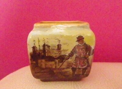 Very Rare Royal Doulton Miniature - Old London, Tower Of London - Unrecorded