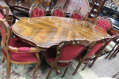 A Vintage 9 Piece Italian Dining Setting by Franco Cozzo - French - Rococo
