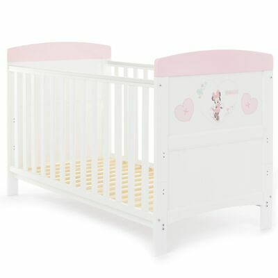 Obaby Disney Inspire Cot Bed | From Birth Baby to 4 Years | Minnie Mouse