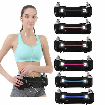 Waist Belt Bag Sport Running Jogging Waist Pack Phone Holder 2 Water Bottles XY