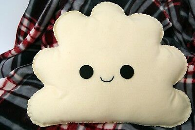 Happy Cream Cloud Shaped Cushion Plush Pillow Kids Bedroom Decor Baby Nursery