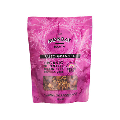 NEW  MONDAY FOOD CO Hazelnut, Fig & Cardamon Granola 300g