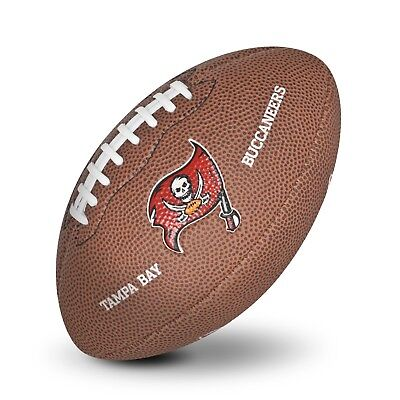 Tampa Bay Buccaneers NFL Team Logo Mini Size Rubber Football H616