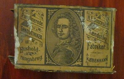 Antique H.E.Gosch & Co Household matchtbox - MADE of WOOD - VERY RARE