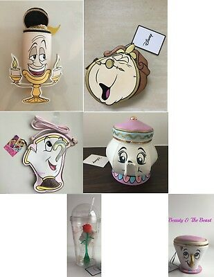 Primark DISNEY BEAUTY & THE BEAST Purse / Bag / Rose tumbler Chip cup Mrs Potts