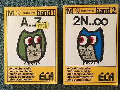 ECA Data Table Comparison Transistors Band 1 and Band 2.1986.