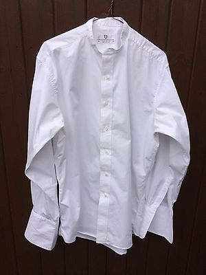 White Collarles shirt size 15.5 double cuff BY Frederick Theak £30 now £12