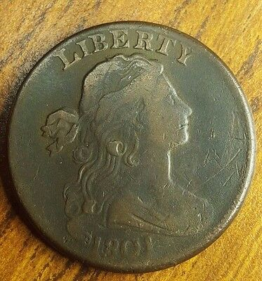 1801 1C BN Draped Bust Large Cent S-216