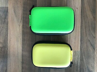 Compact Camera Case Universal Hard Shell Pouch, Black Yellow Green Free Postage
