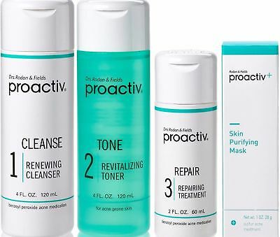 Proactiv 60 Day 4pc Kit Proactive 3-Step System+Purifying Mask -  Exp. 2018-2019