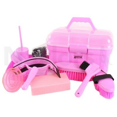 Pony Grooming Kit Pink - Horse Equestrian Grooming Kits