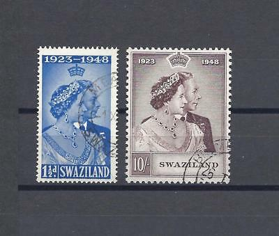 SWAZILAND 1948 SG 46/47 RSW USED Cat £46