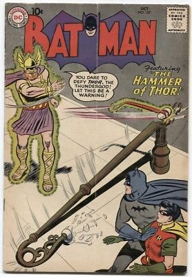 Batman (1940) #127 5.0 Vg/fn Thor & Joker App 1St Series