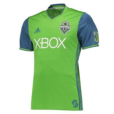 Adults Medium Seattle Sounders Authentic Home Shirt 2016-17 M179