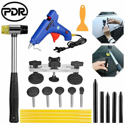 Paintless Dent Repair Puller PDR Tools Kits Glue Gun Sticks Tap Down Hammer Kits