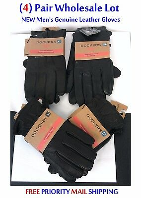 4 Pairs Dockers Mens Leather Gloves Wholesale Lot NEW/NWT $245 TOTAL RETAIL