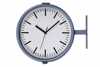 Garden Trading Waterloo Double Sided Clock and Thermometer - Charcoal