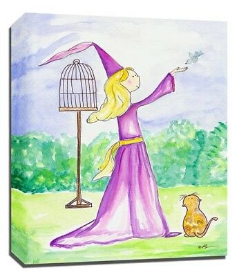 Princess Fairy Bird, Prints or Canvas Wall Art Decor, Kids Bedroom Baby Nursery