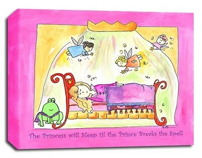 Princess Fairy Tale, Prints or Canvas Wall Art Decor, Kids Bedroom Baby Nursery