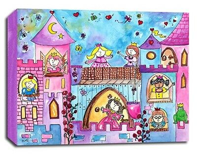 Princess Castle, Prints or Canvas Wall Art Decor, Kids Bedroom Baby Nursery
